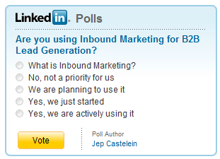 Are you using inbound marketing for b2b lead generation